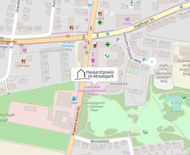 Kartenausschnitt von ©OpenStreetMap-Mitwirkende